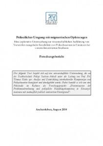 Der Forschungsbericht 'Polizeilicher Umgang mit migrantischen Opferzeugen' als PDF
