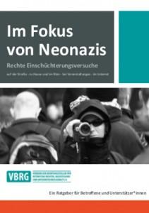 """Die Broschüre """"Im Fokus von Neonazis als"""" als PDF"""