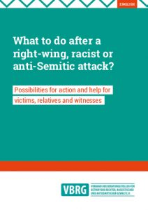 What to do after a  right-wing, racist or  anti-Semitic attack?